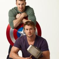 Chris Evans és Chris Hemsworth
